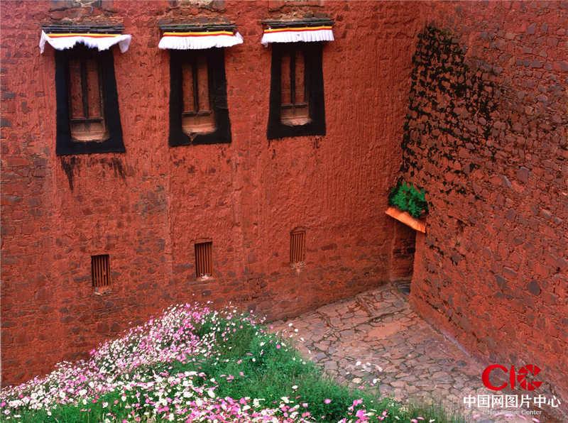 2004年8月,西藏,日喀則,扎什倫布寺,角落