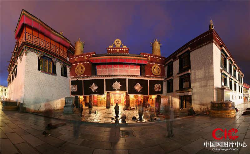 2007年,西藏,拉薩,大昭寺,接片
